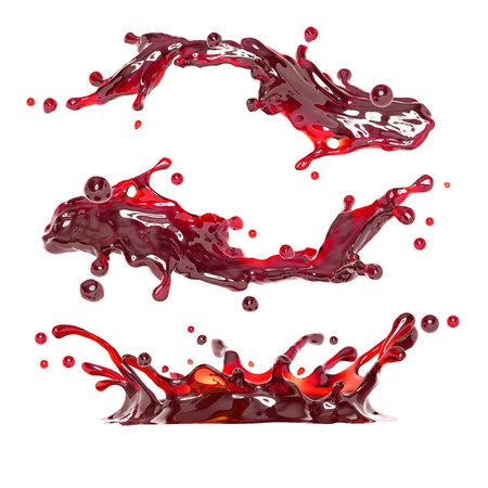 jet stream: vino tinto o jugo l�quido cereza chapoteo copa