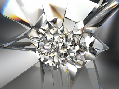 3d abstracte kristal textuur als achtergrond