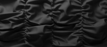 black satin: abstract black textile background