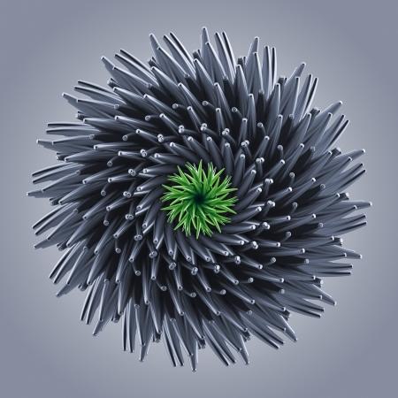 3d abstract organic star gear wheel shape Stock Photo - 18966990