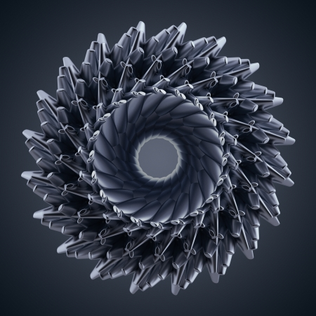 3d abstract organic star gear wheel shape photo