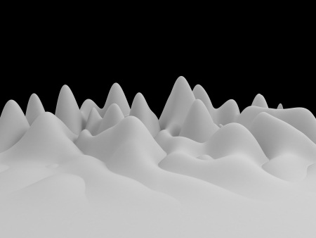 3d white abstract wavy landscape background Stock Photo - 19717062