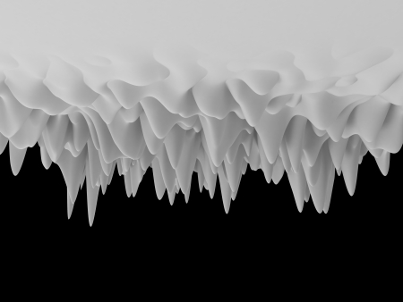 3d white abstract upside-down frozen background Stock Photo - 19717063