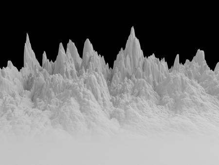 thorn tip: 3d white abstract mountains landscape background Stock Photo