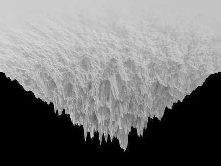 tip of the iceberg: 3d white abstract upside-down iceberg background