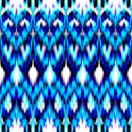abstract ethnic seamless blue color pattern background photo