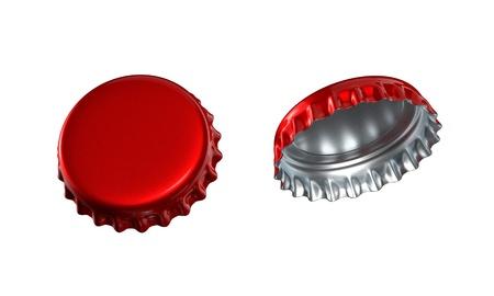 lids: 3d bottle cap flip Stock Photo