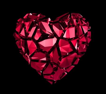 broken crystal heart Imagens