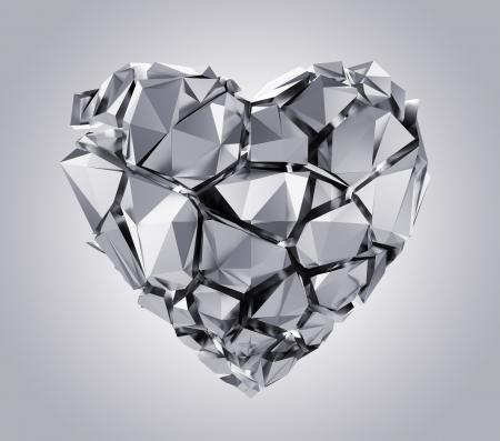 silver broken heart Stock Photo - 19881314