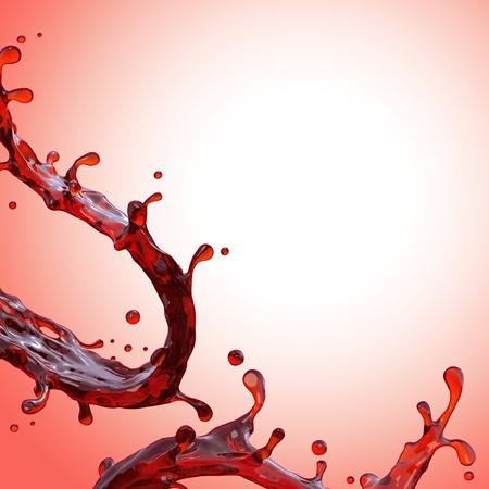 sirup: background with red liquid splash