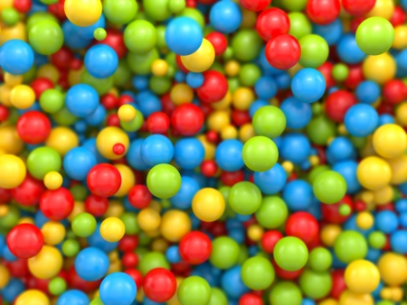 balls deep: 3d mixed color balls background