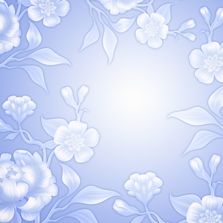 blue lace wedding flower background with rose and peony photo