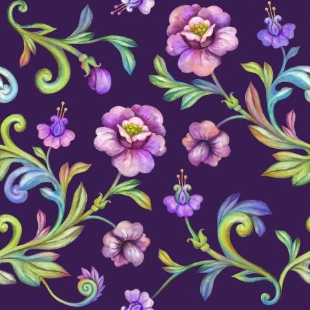 flores fucsia: fondo de acuarela de la flor, patrón floral