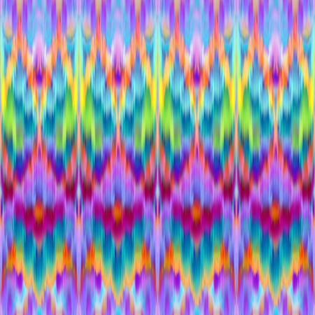 blue prints: multicolor intricate ikat ethnic seamless pattern