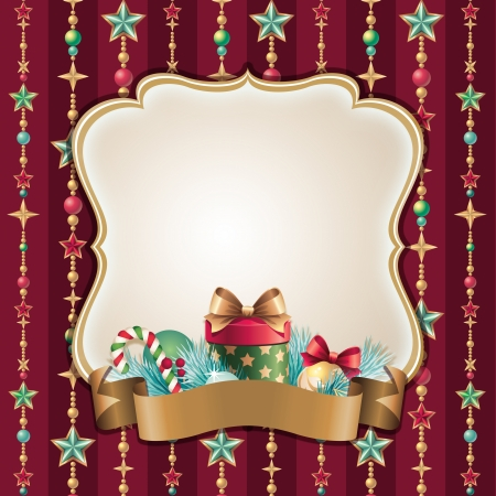 vintage Christmas frame background photo