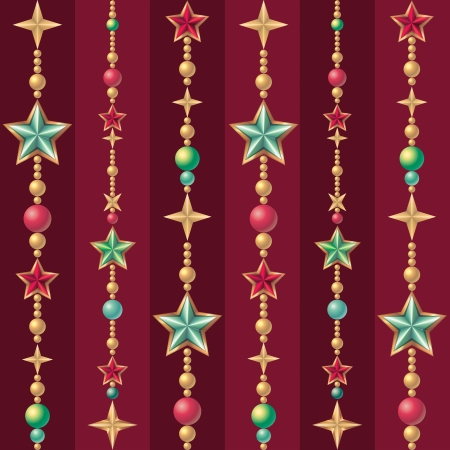 vintage seamless Christmas pattern background photo