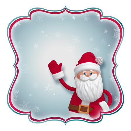 Christmas label with Santa Claus, place your text photo