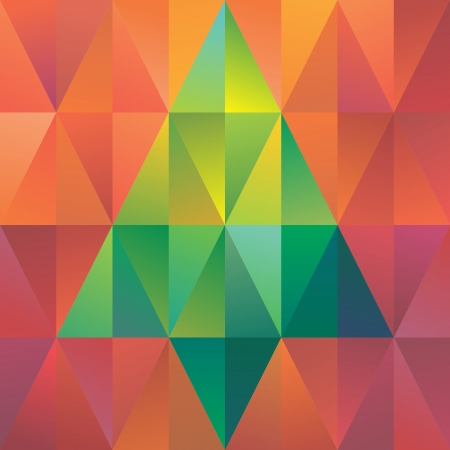 abstract triangle background, geometric pattern, tree symbol photo