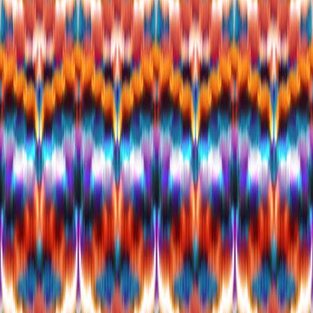 orange blue abstract ethnic ikat seamless pattern background, vintage fashion textile ornament photo
