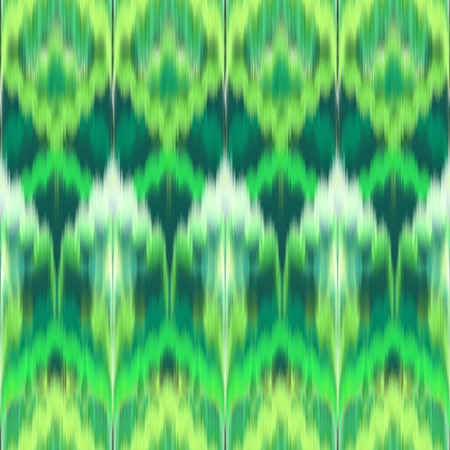 green abstract ethnic ikat seamless pattern background, vintage fashion textile ornament photo
