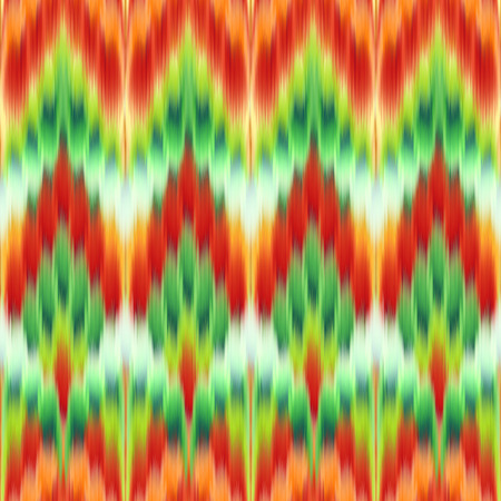 gobelin tapestry: red green abstract ethnic ikat seamless pattern background, vintage fashion textile ornament
