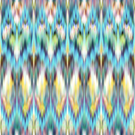 blue yellow abstract ethnic ikat seamless pattern background, vintage fashion textile ornament photo