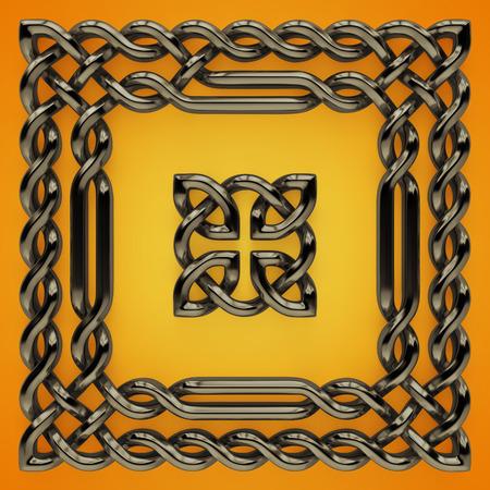 3d Celtic twisted design elements photo