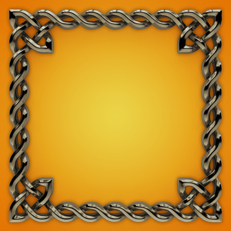 3d Celtic frame with twisted border, design element photo