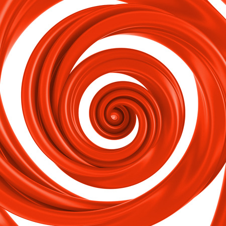 claret red: 3d abstract red liquid glaze syrup swirl, spiral candy cane splash isolated on white