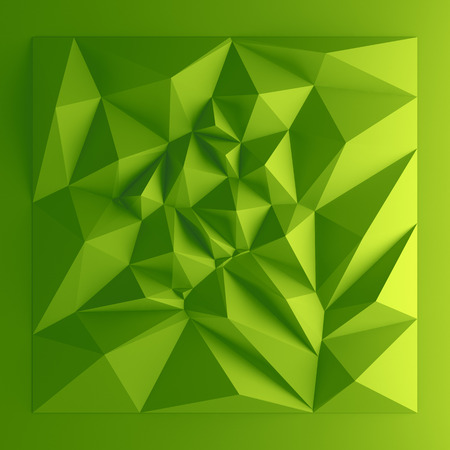 3d abstract geometric background, green polygon shapes photo
