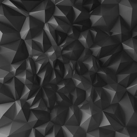3d black abstract geometric texture, polygonal pyramids background photo