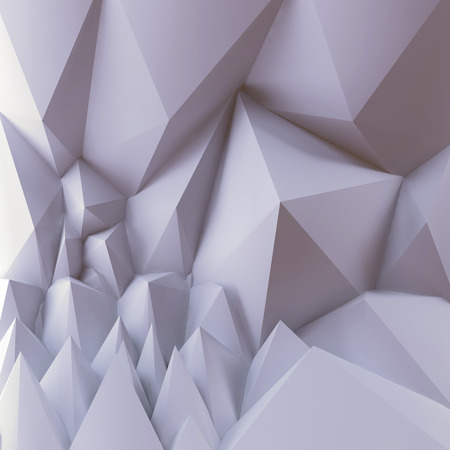 gypsum: 3d white abstract geometric shapes, polygonal pyramids background