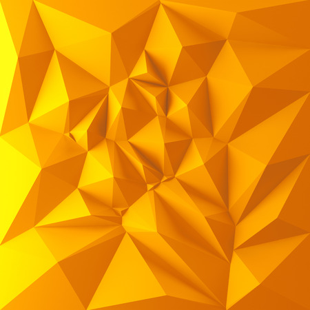 3d abstract geometric background, yellow polygon shapes photo