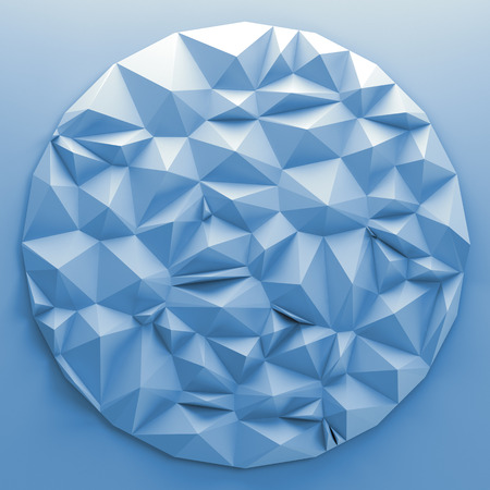 crystallized: 3d abstract crystallized round
