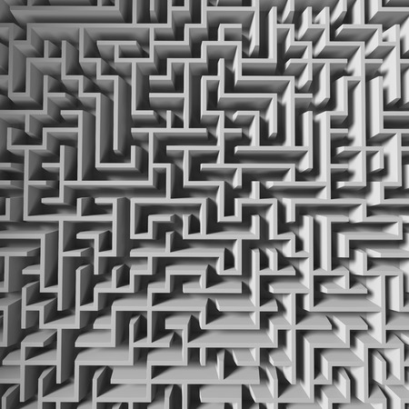 3d maze background, abstract labyrinth Imagens