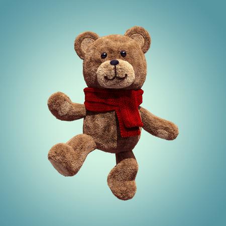 cute teddy bear toy dancing, 3d cartoon character photo