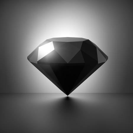 3d black diamond symbol
