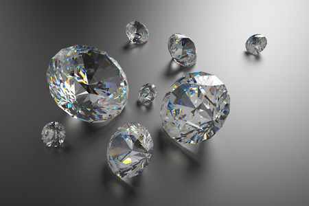 3d brilliants and diamonds background photo