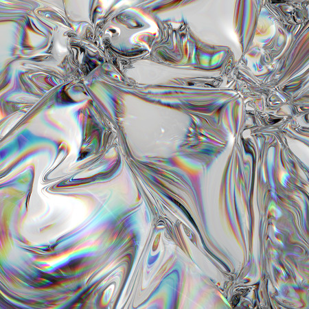 3d abstract background, rainbow light effect, foil