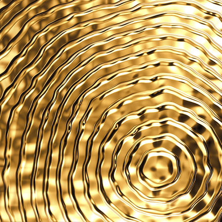 3d abstract gold metal background, golden metallic texture Stock Photo