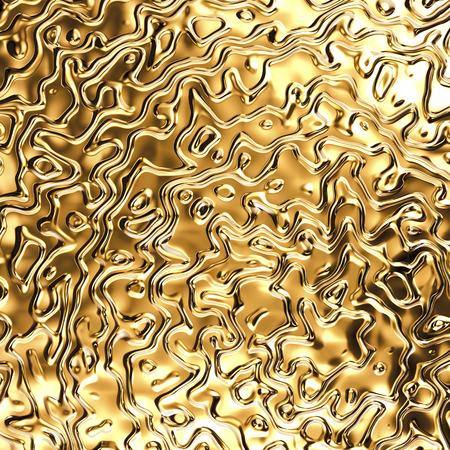 abstract wavy gold background, golden metallic texture