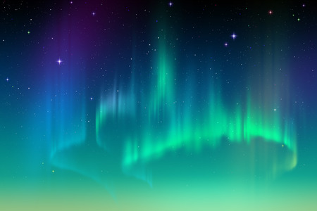 northern lights: Aurora Borealis background, northern lights illustration