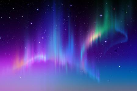 Światła: Aurora Borealis tło, zorza polarna ilustracji