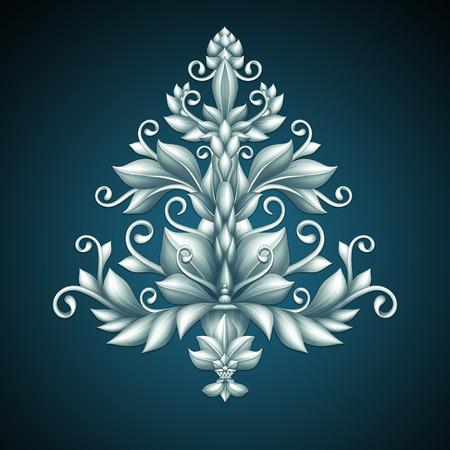 decorative acanthus Christmas tree illustration illustration