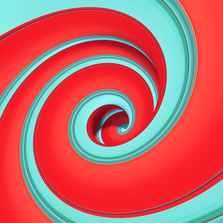 spin: 3d abstract candy spiral background Stock Photo
