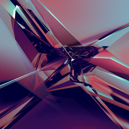 3d abstract glass texture, faceted crystal background