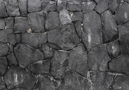strong base: black rock wall background, aged irregular polygonal stone texture