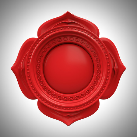 red Muladhara root or base chakra base, 3d abstract symbol, isolated color design element photo