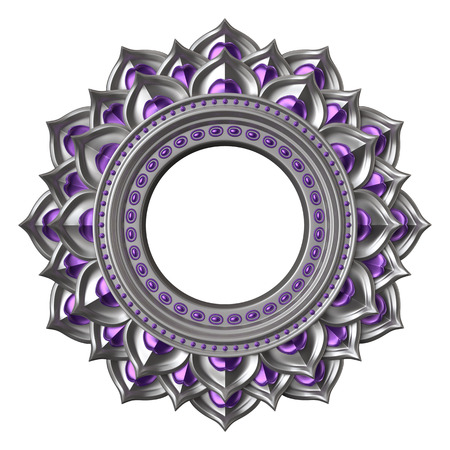 svadhisthana: 3d chakra element isolated on white, esoteric symbol