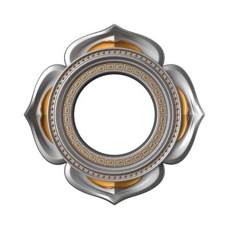 muladhara reiki: 3d chakra element isolated on white, esoteric symbol